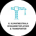 LFM30 AG6: Klimatneutrala byggarbetsplatser och transporter